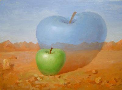 Падающее яблоко от яблока
