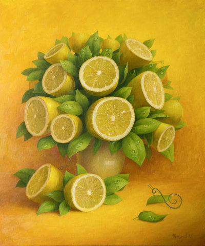 Lemon bouquet with snail