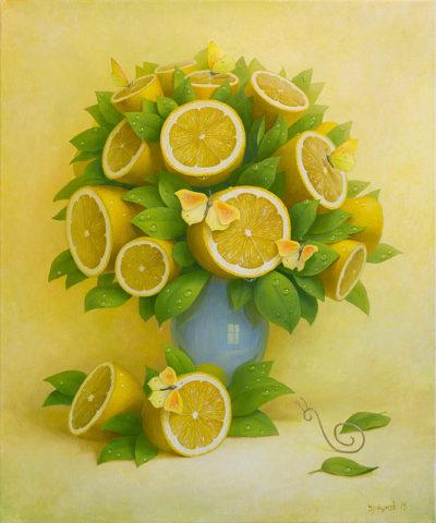 Лимонный букет с бабочкой
